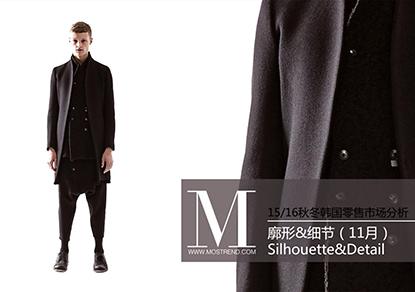 本季韩国市场主要以简约的廓形为主,从而进行细节的深入设计,主要是在条形拼接、领部装饰、刺绣和拼贴装饰这几个方面来表现,整体呈现出强烈的色彩冲击力,总是在外套中被大量运用,在男装中,越来越注重细节的呈现,以此来表达出时尚的精致感。