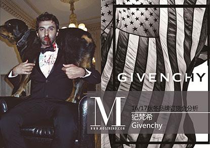 本季Givenchy男士西服设计上,Riccardo Tisci此番从50年代西西里黑手党汲取灵感,通过条纹、人字纹、愤怒猩猩等图案印花缔造非凡气质。休闲装束上,运动风与现代时装理念的相互交融的风格继续沿用。而水洗丹宁面料的加入更是让人眼前一亮。