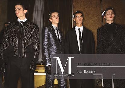 Tom 和Bart两位设计师都毕业于比利时Antwerp皇家高等艺术学院,他们有两种不同的方式去接近美的本质,事实上正是这种不同的视角成就了LES HOMMES,一种意念与想法的撞击,将对立与矛盾视作一旦结合就能发挥作用的统一体,LES HOMMES的男装品牌不乏男性成熟之美。