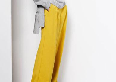 经典的男装造型影响着女装设计师对裤子的设计。柔软的绉纱和结实的棉布是打造阔腿及地长裤的必备面料。宽松是这一休闲裤型的关键,宽腰带松散地系着,更突出了造型的宽松休闲。