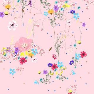 矢量图 eps JM 碎花 局部图案 写意花卉 休闲风 原创