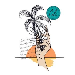 矢量图 eps TA12 插画 局部图案 椰子树 字母 手 太阳 日出 卡通 休闲风