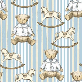 矢量图 eps 玩具 毛绒玩具 泰迪熊 满身图案 清新风 休闲风 复古风