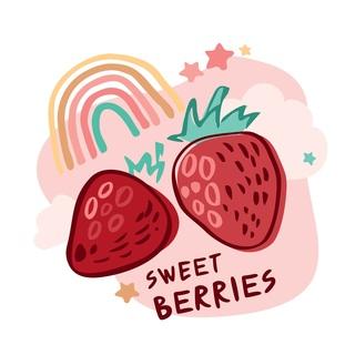 矢量图 eps 水果 局部图案 卡通