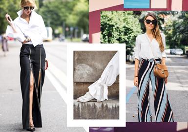 条纹,简单而个性鲜明。无论T台还是街头,经典的竖条纹宽松长裤无疑是一大亮点。垂顺的竖线条,让腿看起来更长。选择一件舒适的上衣搭配休闲条纹长裤,简约大方又不失时髦感。