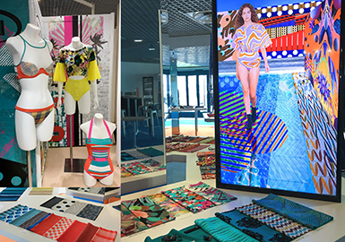16年以来,Mare di Moda凭借其类似于精品店的展厅氛围以及精选的供应商,成为欧洲最重要的面料展之一。紧凑的布局让参展商能够集中展示面料创新工艺。除了面料样品、辅料和色卡以外,本季趋势论坛还通过视频和垂直悬挂的面料吸引参观者。