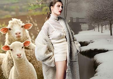 18/19秋冬女裝皮草面料趨勢預測--羊剪絨