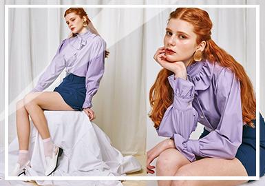 2019春夏女裝組貨搭配--復古風襯衫