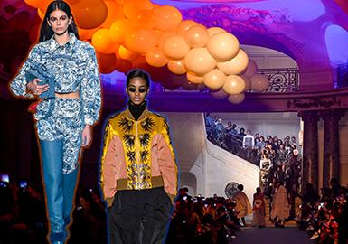 2018秋冬女裝時裝周的秀場上,夾克款式成為不可缺少的單品,色彩與面料的質地都較為豐富,其中也不斷涌現出更具時尚張力的面料與工藝手法。讓夾克呈現出多角度的美感,成為此次秀場上不可缺少的亮點之一。