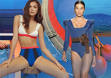 2020春夏女装泳装色彩趋势--海湾蓝