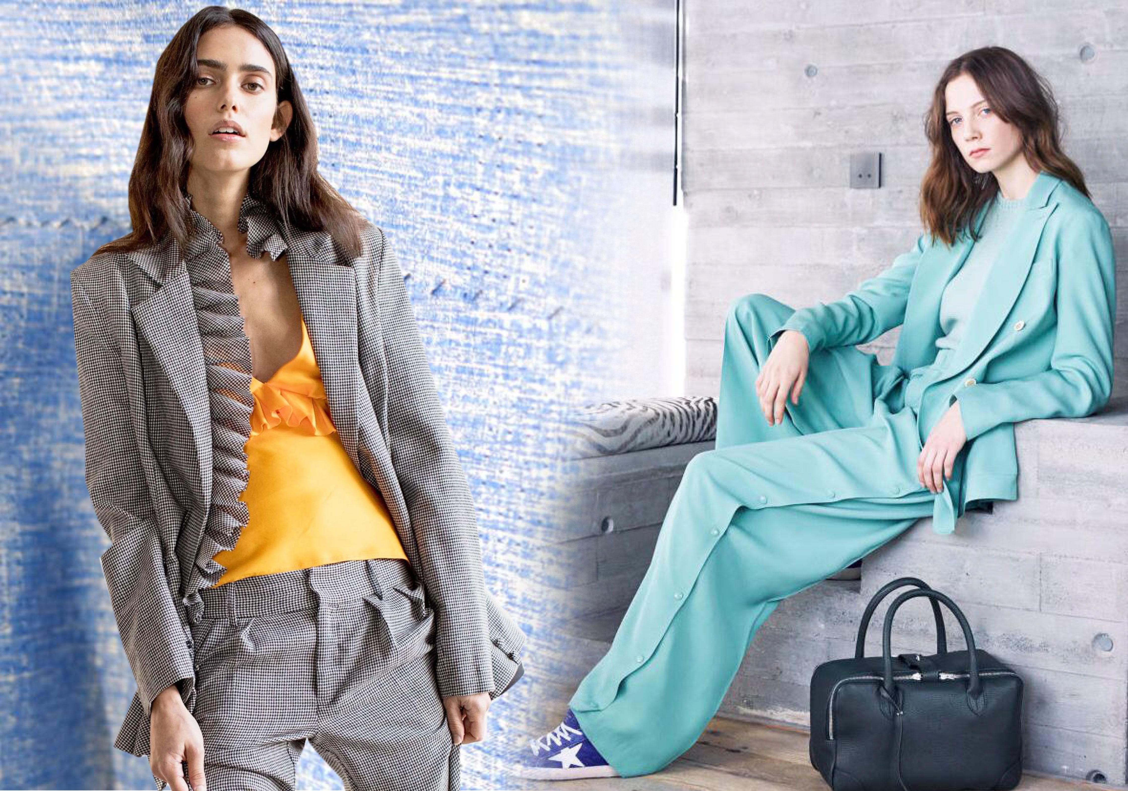 2020春夏女装套装西服面料趋势--炫彩便西