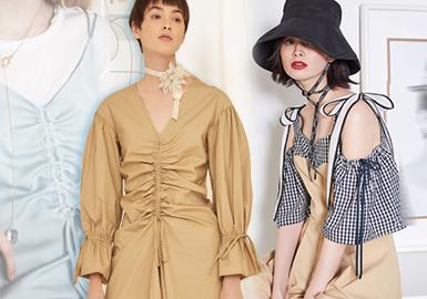 2020春夏女装棉麻细节工艺趋势--柔性抽褶