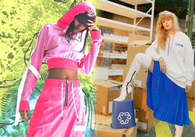 2020春夏女装运动卫衣面料趋势--超酷表达