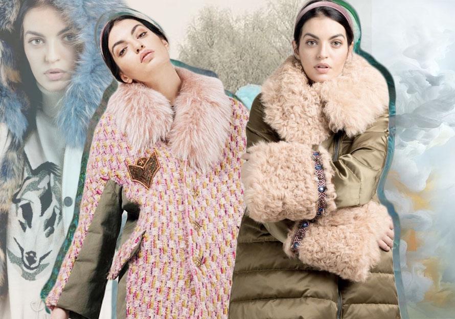 """意大利同名设计师品牌 Alessandra Battistella,专门为?#20999;?#23547;找""""最新""""服装但为穿着者 提供免费?#25925;?#30340;女性而设的派克大衣。"""