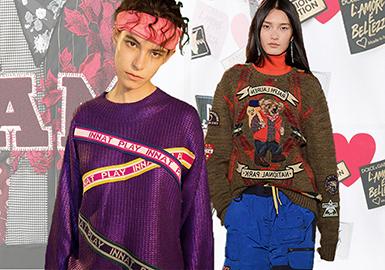 2020早春女装毛衫卫衣工艺趋势预测--拼贴工艺