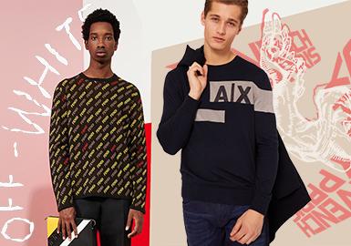 品牌標志及衍變創新總是受人親睞,Armani Exchange、Love Moschino、Off-White以及Dsquared2、MCQ Alexander McQueen等品牌的字母煥新設計在19/20秋冬男裝訂貨會中大放異彩,打動人心。