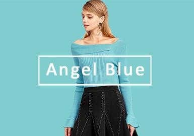 2020春夏女裝毛衫色彩演變趨勢預測--純凈藍