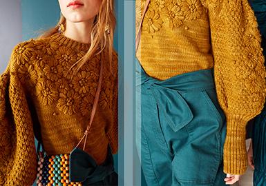 2020早秋女装毛衫工艺趋势--手工装饰