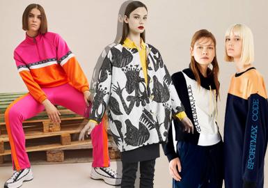 在这一季订货会品?#21697;?#26684;中,运动微潮的服装设计语言会从多角度的变化来为这类风格增加亮点,比如:色彩、?#21450;?#20803;素、LOGO运用、科技与金属感材质、撞色的运动夹克等让微潮的风格感受更加生动化。