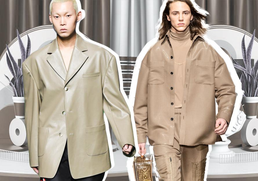 2020春夏男装皮衣廓形趋势预测--商务休闲夹克
