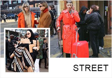 在19/20秋冬伦敦时装周街拍中,经典的廓形、纹样是不可或缺的,但是在经典保留的基础上通过当下的表现手法诠释出来一种混合?#26143;?#22810;元化的新形式,让经典得以?#26377;?#20854;中层次感的搭配、休闲感的西装、经典格纹重塑、动物纹路等,让不同元素与原本汇合,形成服装风格的多元化、包容性的呈?#20013;?#24335;。