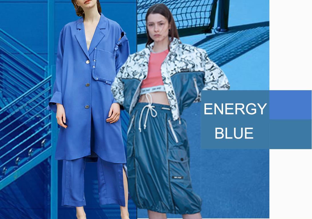 2020?#21512;?#22899;装套装色彩演变趋势预测--动力蓝
