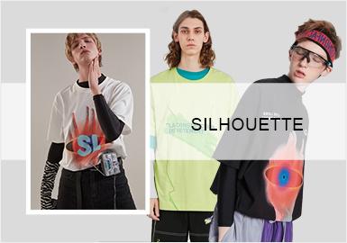 街潮中袖T恤--2020春夏男装廓形趋势预测