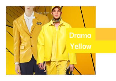戏剧黄--2020?#21512;?#30007;装皮衣皮草色彩演变趋势