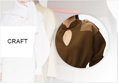 解構拼接--女裝毛衫工藝趨勢
