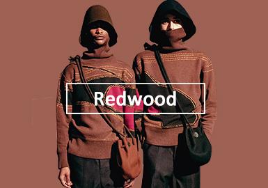 暖情紅木色--男裝毛衫單色彩趨勢