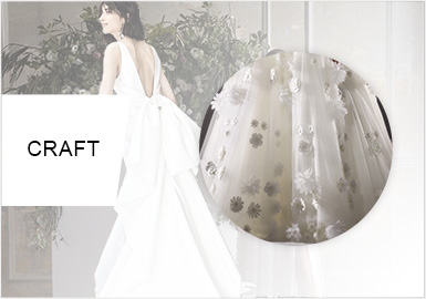 精致立體裝飾--女裝婚紗工藝趨勢