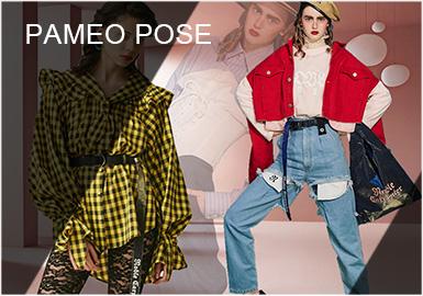 PAMEO POSE在日本女裝品牌中是獨樹一幟,風格迥異的。值得一提的是,PAMEO POSE成立至今,只有短短的6年時間,但其設計不斷受到業內好評。2014年品牌正式發布系列設計。設計師PELI擅長既浪漫又理性的設計,每一季都有獨特的設計理念。
