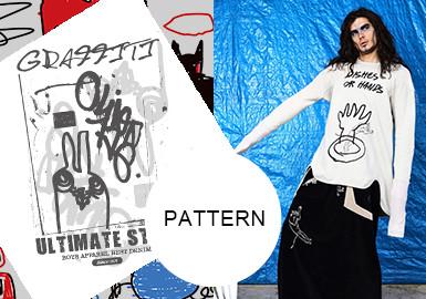 艺术涂鸦--男装图案趋势