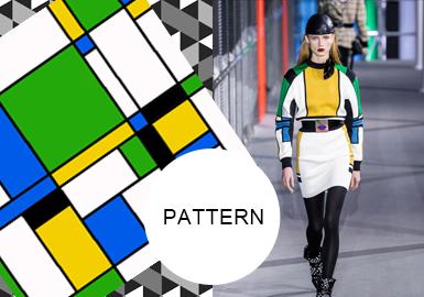 抽象幾何--女裝圖案趨勢