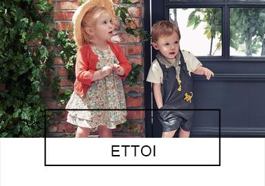 以英国传统经典元素为设计灵感的韩国婴幼童品牌ETTOI,?#38750;?#24736;闲又有趣的生活方式,从色彩、?#21450;浮?#27454;式等方面将韩版的俏皮可爱与经典融合,打造舒适、实用?#30452;?#33268;的婴幼童系?#23567;?> <i class=