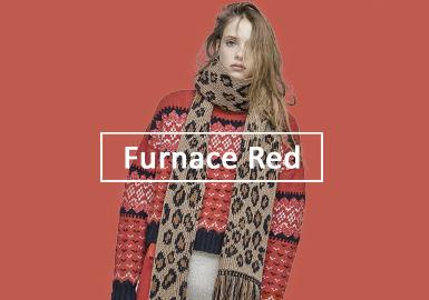 溫暖爐火紅--女裝毛衫單色彩趨勢