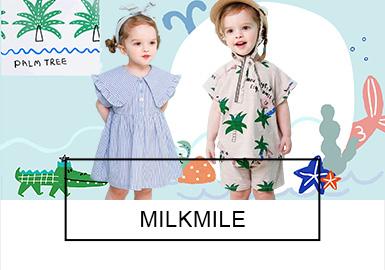 以俏皮可爱的插画?#21450;?#22791;受大众喜爱的韩国婴幼童品牌milkmile,2019夏季?#38498;?#27915;、动物园为灵感,色调清新亮丽,?#21450;?#20431;皮可爱,简约?#30446;?#24335;舒适百搭?#20174;?#26497;具亮点。