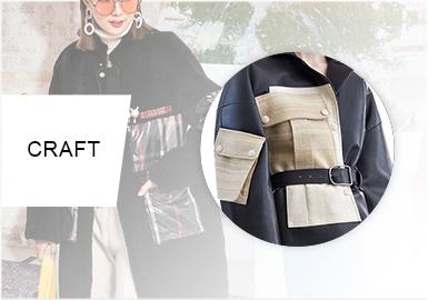 裝飾性口袋--女裝皮衣皮草工藝趨勢