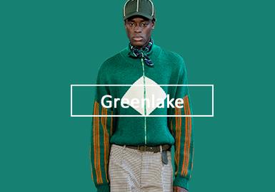 生態湖水綠--男裝毛衫單色彩趨勢