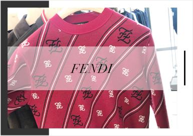 芬迪(Fendi)优雅的外表下有一颗俏皮的童心。芬迪丰富质感与高贵奢华的设计风格深得现代高贵男性的心。而它每一季的字母LOGO设计总会带来不一样的惊喜。2020春夏男装毛衫的字母LOGO演变更是丰富,结合LOGO在成衣的设计运用相信它能给毛衫设计师带来更多设计灵感。