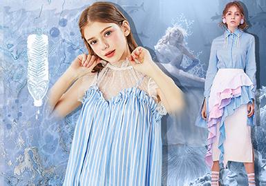 浮游磷光藍--女裝主題色彩趨勢