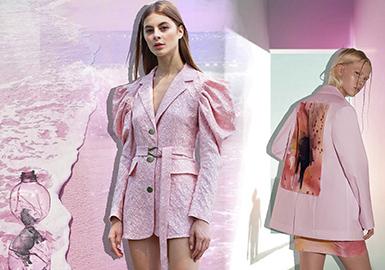 愛琴海岸粉--女裝主題色彩趨勢
