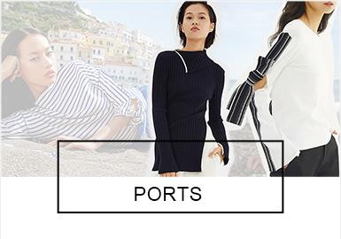 1961年,Luke Tanabe先生在加拿大港口城市多伦多创立了Ports,热爱周游世界的他将环球精神赋予品牌内涵,简约优雅的Ports吸引了最早一批环球旅行者,并开创了时尚界的设计新风格。旗下Ports、PortsPURE以及Isabella三个女装品牌简洁优雅,从纱线选取到结构变化、以及针法的运用,细腻展现出精致的淑女魅力。