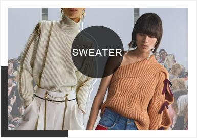 """2020早春秀场上,极简舒适,低奢纱线质感是贯穿整个风格线的主要表达。廓形简洁却充满张力,基础针法勾勒的挺括毛衫?#21672;潰?#22522;础裙装针法的设计帮助?#23433;?#21098;""""线条······所有设?#21078;?#27861;更加强调的是立体空间感以及款式与身体之间的舒?#24066;裕?#23613;显自由畅享的回归自我意?#22330;?> <i class="""