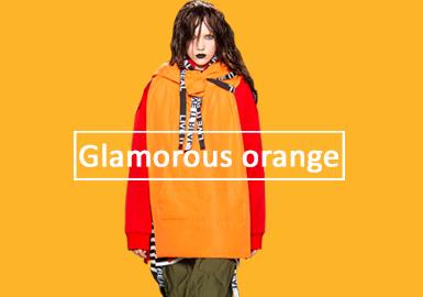 娇艳橘--女装卫衣单色趋势