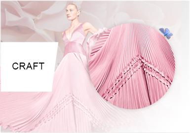 褶皱美学--女装礼服细节工艺趋势