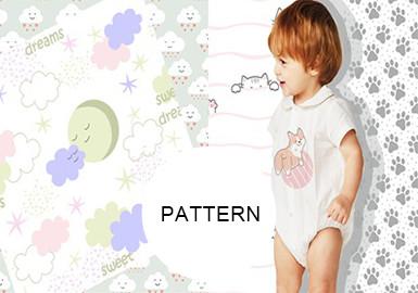 可爱散点满印--婴幼童童装图案趋势