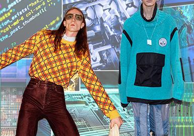 數字化視覺--男裝毛衫主題色彩趨勢