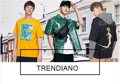 TRENDIANO此次联名系列从年轻时尚达人视角出发,设计出受年轻人喜爱的一系列单品,而常见的图案、拼接等设计手法也随处可见。Polo打破商务款的呆板严谨,以更时尚的版型进入视野。而现下流行的工装裤款式颇多。