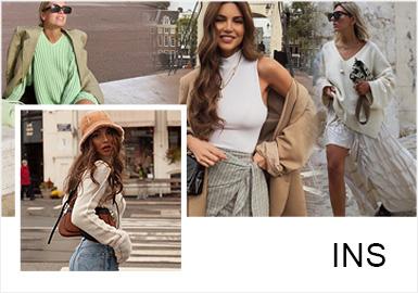 随着复古风潮、女权主义以及环保主题热度的提升,慵懒、简约、复古、浪漫的法式风格被被推崇为更热门、更时尚的穿搭方式,追求随性简单的舒适自在感,同时能将女性独有的魅力描绘出来,不经意间便可散发出慵懒而性感的女人味。简约的毛衫单品更容易穿搭出法式风格,且更适合亚洲人去驾驭。